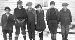Aleut children from the senior school on St. Paul Island 1925